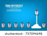 think differently   being... | Shutterstock .eps vector #757094698