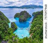 coron  palawan  philippines ... | Shutterstock . vector #757097968