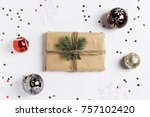 christmas decoration... | Shutterstock . vector #757102420