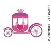 chariot cartoon. outlined... | Shutterstock .eps vector #757103944