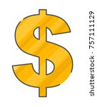 dollar icon isolated vector... | Shutterstock .eps vector #757111129