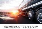 gasoline tanker  oil trailer ... | Shutterstock . vector #757117729