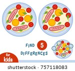 find differences  education... | Shutterstock .eps vector #757118083