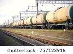 freight train stalled | Shutterstock . vector #757123918