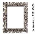 golden frame for paintings ... | Shutterstock . vector #757133050