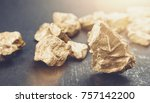 big gold nugget finance concept | Shutterstock . vector #757142200