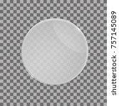 transparent vector glass shape. ... | Shutterstock .eps vector #757145089
