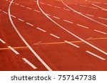 athletic field race track | Shutterstock . vector #757147738