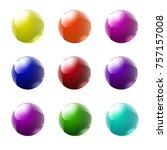 set of multicolored glass... | Shutterstock .eps vector #757157008