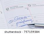 entry in the calendar  tax audit | Shutterstock . vector #757159384