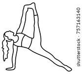 yoga pose  asana  pose  posture ... | Shutterstock .eps vector #757163140