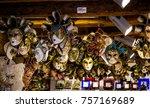 traditional venetian mask in... | Shutterstock . vector #757169689