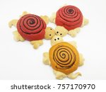 animal dolls made of bread | Shutterstock . vector #757170970