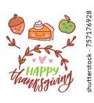 hand drawn illustration for... | Shutterstock .eps vector #757176928