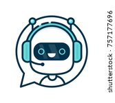 Cute Smiling Funny Robot Chat...