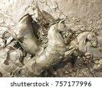 decorative metal horse    Shutterstock . vector #757177996