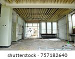 the interior of a devastated...   Shutterstock . vector #757182640