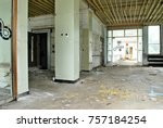 the interior of a devastated...   Shutterstock . vector #757184254