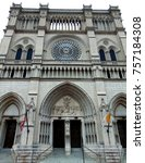 huge old cathedral church   Shutterstock . vector #757184308
