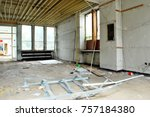 the interior of a devastated...   Shutterstock . vector #757184380