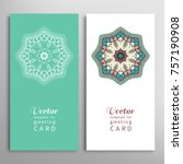 cards or invitations set with... | Shutterstock .eps vector #757190908