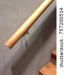 wood handrail interior...   Shutterstock . vector #757200514