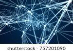 line plexus abstract network...   Shutterstock . vector #757201090