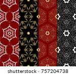 set of decorative wallpaper for ...   Shutterstock .eps vector #757204738