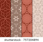 set of seamless background...   Shutterstock .eps vector #757204894