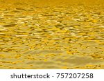 abstract gold reflection on... | Shutterstock . vector #757207258