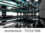 abstract dynamic interior with...   Shutterstock . vector #757217308