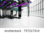 abstract dynamic interior with...   Shutterstock . vector #757217314
