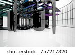 abstract dynamic interior with...   Shutterstock . vector #757217320