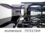 abstract dynamic interior with...   Shutterstock . vector #757217344