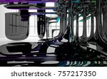 abstract dynamic interior with...   Shutterstock . vector #757217350