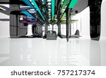 abstract dynamic interior with...   Shutterstock . vector #757217374