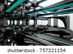 abstract dynamic interior with...   Shutterstock . vector #757221154