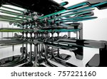 abstract dynamic interior with...   Shutterstock . vector #757221160