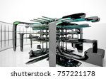 abstract dynamic interior with...   Shutterstock . vector #757221178