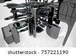 abstract dynamic interior with...   Shutterstock . vector #757221190
