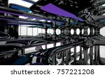 abstract dynamic interior with...   Shutterstock . vector #757221208