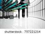 abstract dynamic interior with...   Shutterstock . vector #757221214