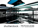 abstract dynamic interior with...   Shutterstock . vector #757221220