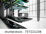 abstract dynamic interior with...   Shutterstock . vector #757221238