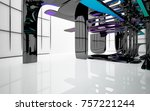 abstract dynamic interior with...   Shutterstock . vector #757221244