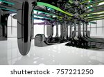abstract dynamic interior with...   Shutterstock . vector #757221250