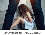 the thief was just after raping ... | Shutterstock . vector #757222060