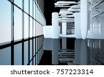 abstract dynamic interior with...   Shutterstock . vector #757223314