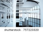 abstract dynamic interior with...   Shutterstock . vector #757223320