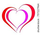 vector of love  | Shutterstock .eps vector #757227964